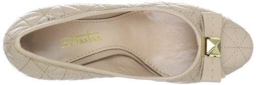 Sebastian WOMAN'S SHOE S5243 NAPNUD - Sandalias clásicas de tela para mujer Beige