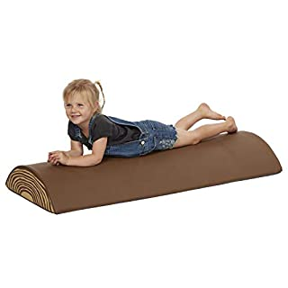 ECR4Kids Tree Log Roll (Long) - Foam Obstacle Climber for Kids - Imaginative Wood Design for Preschools, Daycares and Play Rooms