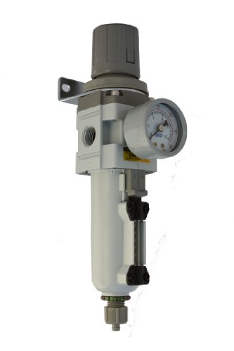 (PneumaticPlus SAW3000M-N03BG-MEP Air Filter Regulator Combo Piggyback, 3/8