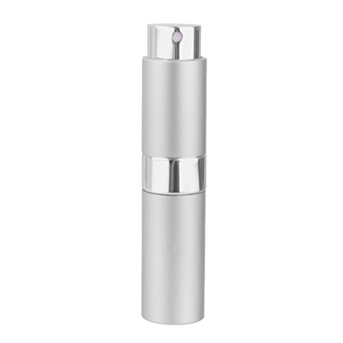 MagiDeal 8ml Refillable Rotation Perfume Atomizer Empty Spray Bottle - Silver from skypia