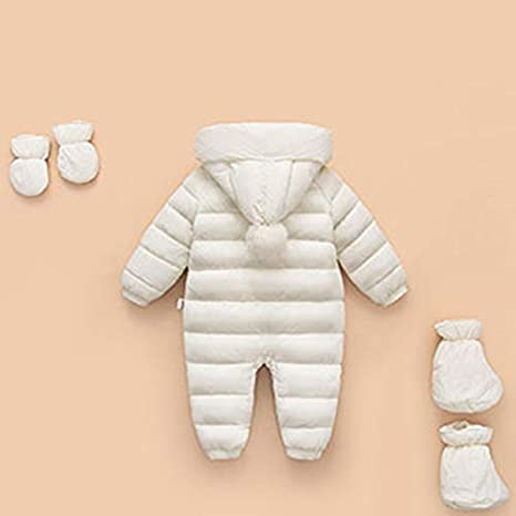 Ohrwurm 3 Pcs Baby Flannel Lining Snowsuit Winter Warm Jumpsuit Double Zip Up Romper