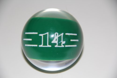 Epco Replacement Ball #14 Clear Billiard or Pool Set, 4.2oz, 2.25