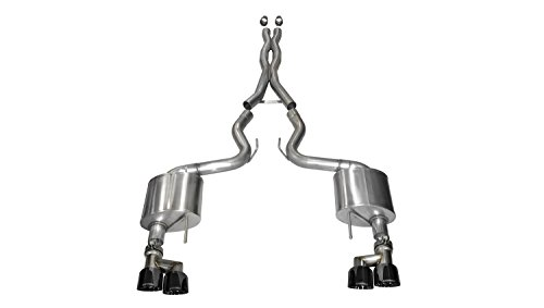Corsa 14335BLK Cat Back Exhaust with Black Tip (Ford Mustang (Mustang Cat Back Exhaust)