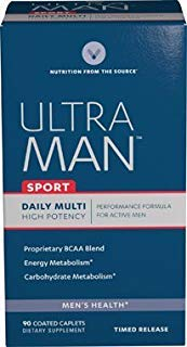 Vitamin World Ultra Man Sport Daily Multi Vitamin, 90 Coated Caplets