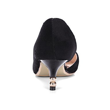 Zapatos de tacones de las mujeres Primavera Verano Otoño Invierno Confort de cuero y de oficina Partido Carrera y noche casual tacón de aguja Remache Negro Rojo Otros Black