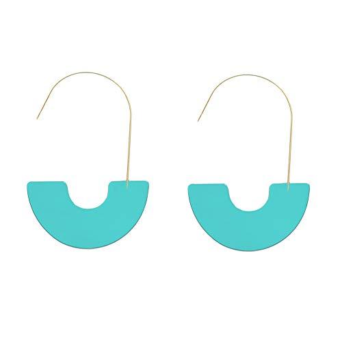 MUYIXIN Hoop Tortoise Shell Earrings Women Acrylic Bohemian Statement Earrings Wire Drop Dangle Earrings Fashion Jewelry (Blue)