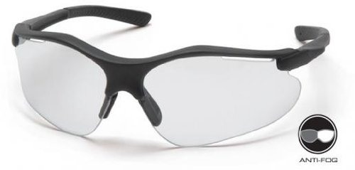 Pyramex SB3710DT Fortress Safety Glasses Black Frame w/Clear