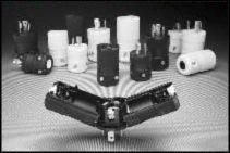 Hubbell HBL4723VBK Locking Valise Plug, 15 amp, 125V, L5-15P, Black