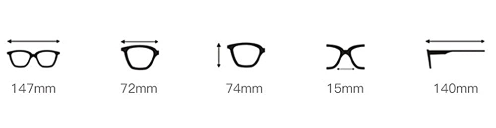 Amazon.com: FORUU Glasses, Womens Fashion Artificial Diamond ...