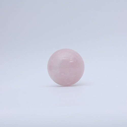 ruhong Natural Quartz Handmade Art 70mm-80mm Healing Rose Crystal Ball Stone Craft Christmas Home Decoration Gift Collection Fengshui Sphere with Free Stand (rose) by ruhong