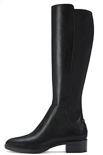 Tory Burch Boots Caitlin Leather Stretch (8, Black)