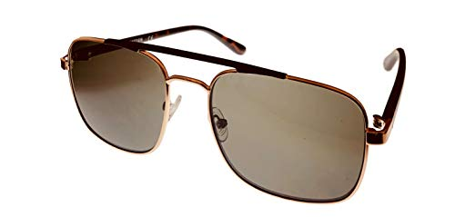 - Kenneth Cole Reaction Metal Mens Square Shiny Gold Sunglass KC1355 32N