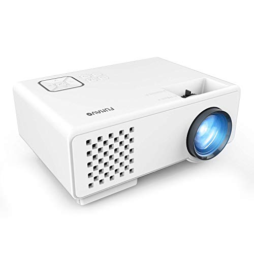 FUNAVO Projector, RD-815 Mini Projector Portable, Full HD 1080P Supported, 50000 Hours Video Projector for Smartphones, TV Stick & DVD Multimedia Home Theater via HDMI, USB, VGA &AV