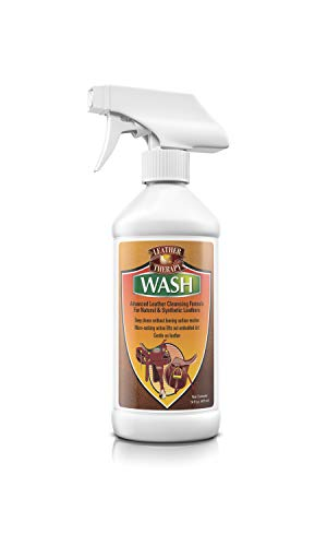 Leather Therapy Leather Care Products - Wash Leather Cleaner - No Residue Leather Treatment - Non-Drying Vinyl & Leather Cleaning Products, 16 Ounce