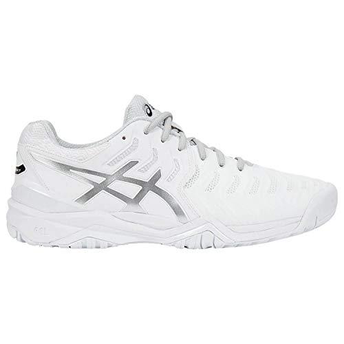 ASICS Men's Gel-Resolution 7 Tennis Shoe, White/Silver, 11 M US