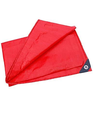Fonly Outdoor Plastic rot Plane Zelt Camping Leinwand Abdeckung Tarp in Vielen Größen