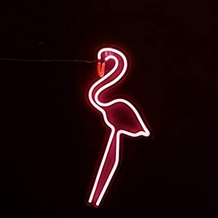 Nikky Home Nl17001p Flamingo Neon Light Pink Amazon Com