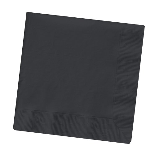 Creative Converting Touch of Color 2-Ply 50 Count Paper Lunch Napkins, Black Velvet