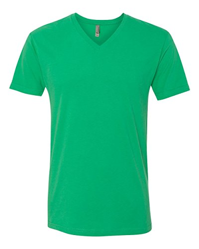 (Next Level Apparel 6440 Mens Premium Fitted Sueded V-Neck Tee - Envy,)