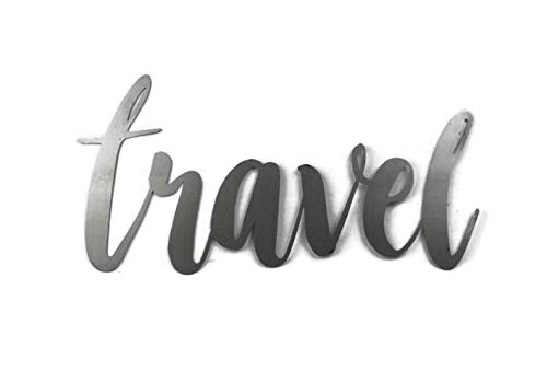 (Raw Steel Unpainted Word Art - travel size small)