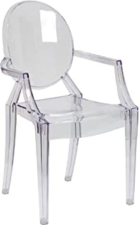 amazon com modway casper modern acrylic dining armchair in clear