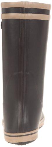 Aigle Malouine BT, Bottes de Pluie Femme Noir (Noir/Camel)