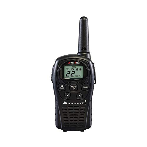Midland LXT500VP3 22 Channel FRS Two-Way Radio - Up to 24 Mile Range Walkie Talkie - Black (Pack of - Corporation Electronics Adapter Cobra