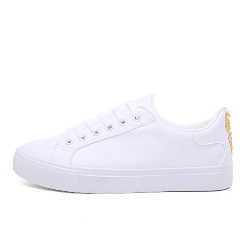 Ladies White Schuhe,Allzweck-freizeitschuhe,Dicker Sohle Turnschuhe,Student Board Schuhe B