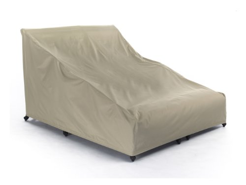 CoverMates – Double Chaise Lounge Covers – 58W x 78D x 34H – Elite Collection – 3 YR Warranty – Year Around Protection - Khaki (Double Chaise Lounge Cover)