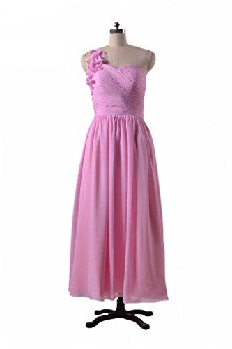 Daisyformals Une Robe De Soirée Épaule Longue Robe De Mousseline De Soie Dame (bm10824al) # 14 Lumière Corail