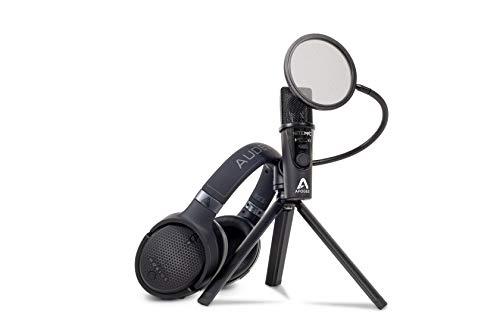 Mobius and Apogee Ultimate Streaming Bundle | Audeze Headphones with Latest Apogee Mic | USB | Black