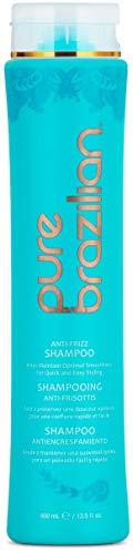 Pure Brazilian - Anti Frizz Daily Shampoo - Salt-Free, Color Safe, With Keratin, Argan Oil, and Acai (13.5 Fl. Ounces / 400 Milliliter) (Pure Brazilian Shampoo)
