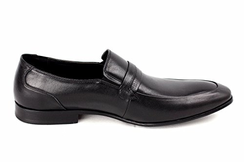 Hombres Zapatos de cuero Deslizante Vestido Boda Inteligente Oficina Formal Casual Mocasines Talla Negro