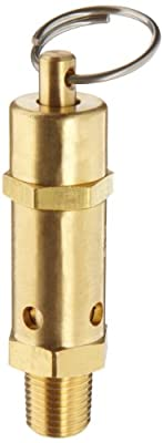"Kingston 112CSS Series Brass ASME-Code Safety Valve, 30 psi Set Pressure, 1/4"" NPT Male by Kingston Valves"