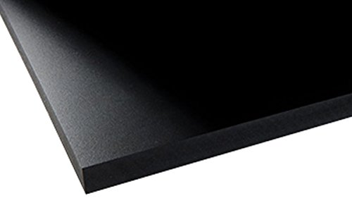 PVC Foam Board Sheet - 24' x 24' - Black - 10mm Thickness - Used in Signboard/Display, Digital & Screen Printing, Crafts, Modeling, Photo Mounting, & Theatrical Props - Lightweight & Flame-Resistant
