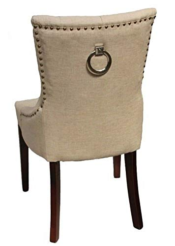 HongTeng Luxury Double Bed Single Fabric Dining Chair Office Lounge with Door Knocker (Color : C)