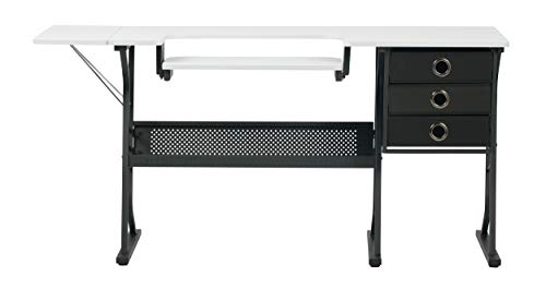 Folding Table Sewing (SD STUDIO DESIGNS Eclipse Hobby Sewing Center in Black/White 13362)