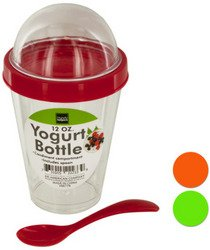 Yogurt Cup with Top Compartment & Spoon (Sold by 1 pack of 8 items) PROD-ID : 1942388