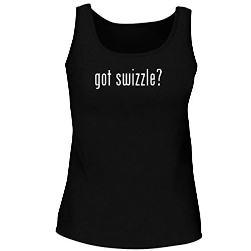 BH Cool Designs got Swizzle? - Cute Women's Graphic Tank Top, Black, Small