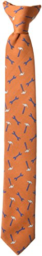 - Wembley Big Boy's Boys Novelty Fun Print Clip Tie orange, One Size