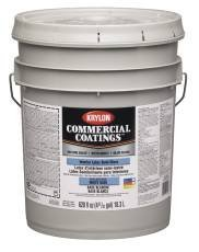 Sherwin Williams Gidds 800490 Krylon Interior Semi Gloss White Paint 5 Gallon