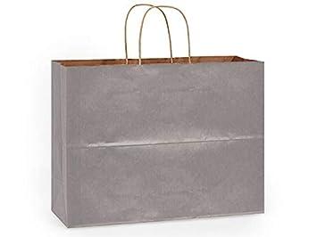 Amazon.com: 250 bolsas de la compra Kraft, mochilas ~ plata ...