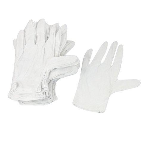 12ペア帯電防止アンチスキッド手袋ESD PCコンピュータのワーキングホワイト B06XV86JVT