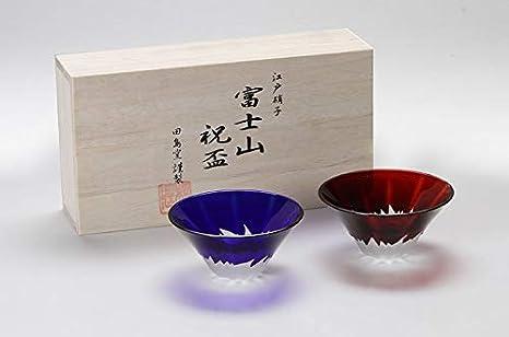 Red Mt.Fuji Sake cup set AKS-29