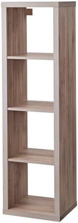 Ikea 303.601.47 Kallax - Estantería (madera de nogal, 1 x 4), color gris claro