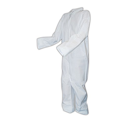 Magid Glove & Safety CVZ8MCPS Magid EconoWear CVZ8MCP Disposable Microporous Coveralls with Open Wrists and Ankles, 28x45, White, Small (Pack of 25)