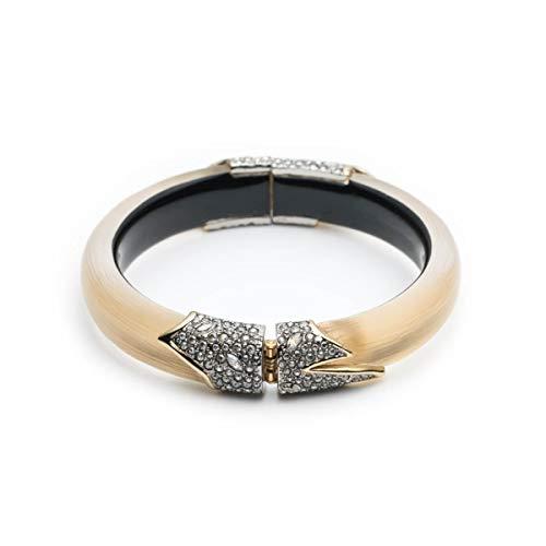 - Alexis Bittar Women's Crystal Encrusted Feather Hinge Bracelet