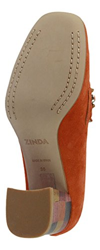 Zinda 2785 ORANGE VELOUR Größe 39 Orange