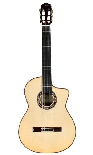 (Cordoba GK Pro Negra [Gipsy Kings Signature Model] Acoustic Electric Nylon String Flamenco Guitar)