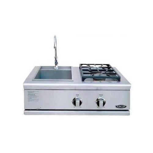 DCS BFG-30BS-N 70847 Liberty Sink/Side Burner for Built-In Natural Gas, Stainless Steel, 30-Inch